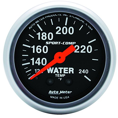 - Auto Meter 3333 Sport-Comp Mechanical Water Temperature Gauge