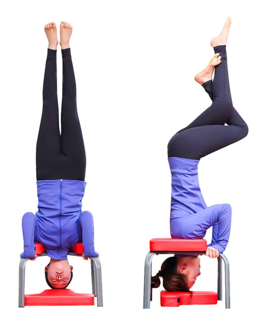 LJQ Auxiliar de Yoga Taburete Boca Abajo - Silla Invertida ...