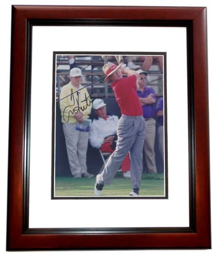 Tom Kite Signed - Autographed Golf 8x10 inch Photo MAHOGANY CUSTOM FRAME ()