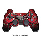 Skin Stickers for Playstation 3 Controller - Vinyl Sticker for DualShock 3 Wireless Game Sixaxis Controllers - Protectors Controller Decal - Spider-Man [ Controller Not Included ]