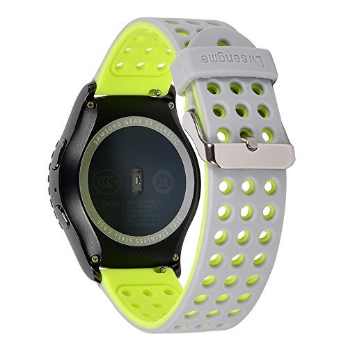 Lwsengme 20mm Gear S2 Classic Smart Fitness Watch Band (SM-R732),Silicone Replacement for Samsung Galaxy Gear S2 Classic (Only for Classic Version)
