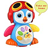 HOMOFY Baby Toys Super Fun Musical Dancing Penguin EQ& Intelligence Training Swing,Songing,Walking,Light,Tell a Story -New Toys for Girls and Boys Kids or Toddlers (14)