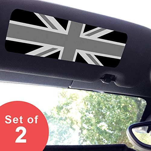 MINI Cooper Visor Sticker Large Black Jack