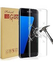 Solocil Verre Trempé Galaxy S7, [Lot de 2] Protection Ecran Film en Verre Trempé Ultra Résistant 3D Incurvé Anti Rayures sans Bulles d'air Dureté 9H pour Samsung Galaxy S7