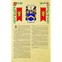 Sugden Coat of Arms / Family Crest with Armorial History on Beautiful 11 x 17 Parchment Paper