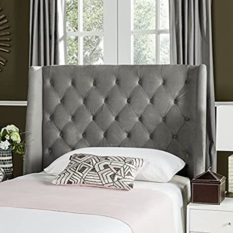 Safavieh Mercer Collection London Grey Pewter Winged Headboard Twin