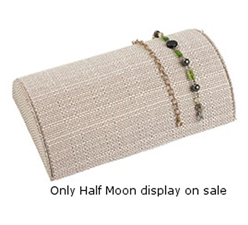 (New Half Moon Design Linen Bracelet Jewelry Display 8 1/4