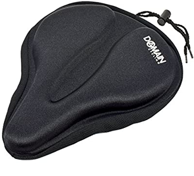 "Large Bicycle Gel Seat Cover 11.5""x9.5"" Wide Thick Cushion for Exercise Bikes - Domain Cycling"