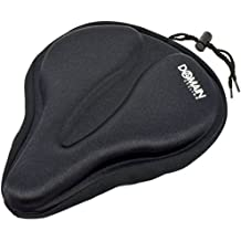 """Domain Cycling Large Bicycle Gel Seat Cover 11.5""""x9.5"""" Wide Thick Cushion for Exercise Bikes"""