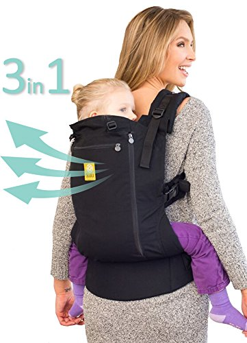LÍLLÉbaby 3 in 1 CarryOn All Seasons Toddler Carrier, Black