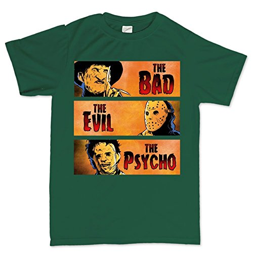 LesGo-Tshirt Bad Evil Psycho Party Costume T Shirt]()