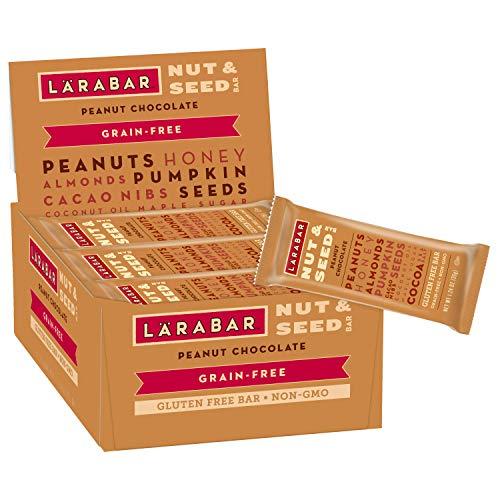 - Larabar Peanut Chocolate Nut and Seed Crunchy Bar, 1.24 Ounce (15 Count), Whole Food Bars