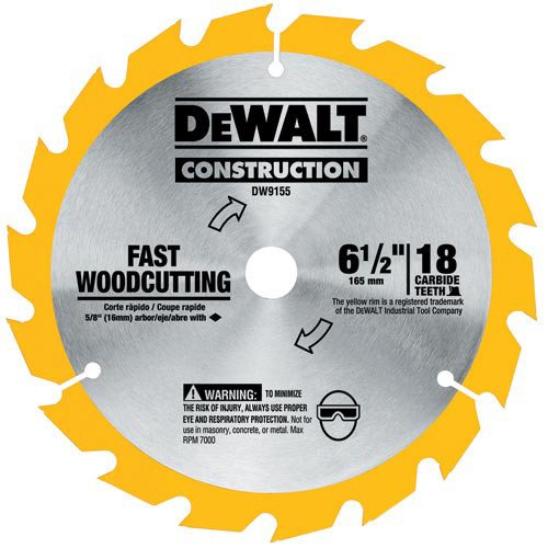 Dewalt DW9155 6-1/2 16T Carbide Circular Saw Blade ()
