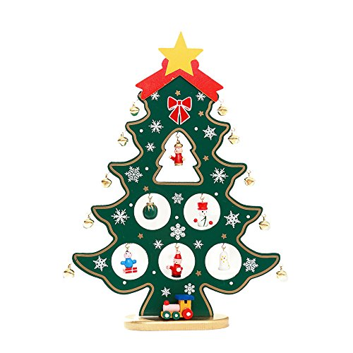 Colorzonesd 3D Wooden Assembling Christmas Tree Home