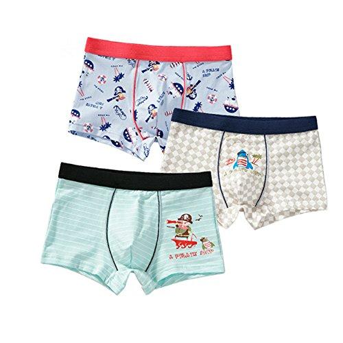Toddler Baby Boy Boxer Briefs Kid Boys' Underwear Soft Cotton Boxer Shorts 3 Pack 3-4t Pirate 65