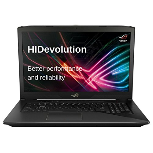 Price comparison product image HIDevolution ASUS ROG STRIX GL703VD 17 inch Gaming Laptop / 2.8 GHz i7-7700HQ,  16GB DDR4 RAM,  GTX 1050 4GB,  PCIe 256GB SSD + 1TB SSHD / Authorized Performance Upgrades & Warranty