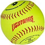 DeMarini Lightning ASA Series Slowpitch Synthetic Leather Softball (12-Pack), 11-Inch, Optic Yellow