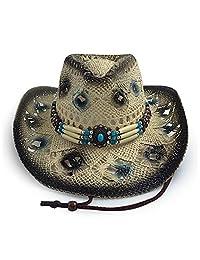 AccessHeadwear Old Stone Amelia Women's Cowboy Drifter Style Hat, Black