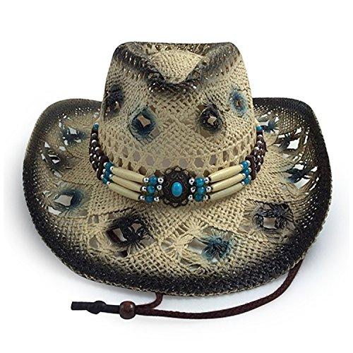 AccessHeadwear Old Stone Amelia Women's Cowboy Drifter Style Hat, Black by AccessHeadwear