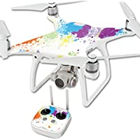 MightySkins Protective Vinyl Skin Decal for DJI Phantom 4 Quadcopter Drone wrap cover sticker skins Splash Of Color