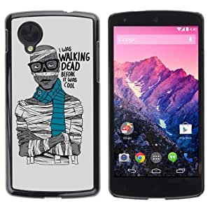 YOYOSHOP [Funny Hipster Zombie Walking Dead ] LG Google Nexus 5 Case