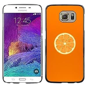 Paccase / Dura PC Caso Funda Carcasa de Protección para - Orange Fresh Fruit Food Healthy Cut Art - Samsung Galaxy S6 SM-G920