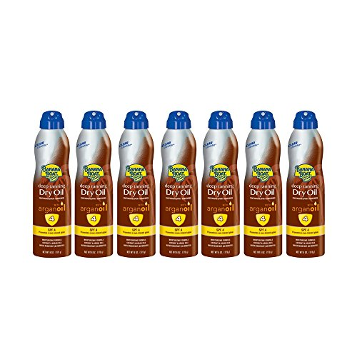 - Banana Boat UltraMist Deep Tanning Dry Oil Continuous Clear Spray SPF 4 Sunscreen, 6 oz (7 pack)