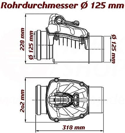 pour les eaux us/ées 125 160 et 200/mm au choix diam/ètre de 110 Clapet antiretour tube HT KG