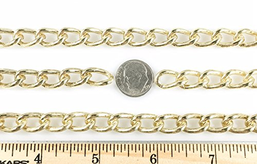 Curb Chain Welded 2.5mm 10 Foot Length Brass Finish ()