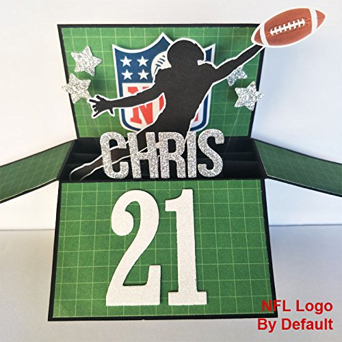 NAME Age Personalised Birthday Card Boyfriend Handmade American Football 21st Fathers Day