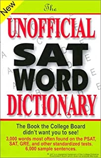 Amazon mcgraw hills 400 essential sat words 0639785387374 the unofficial sat word dictionary fandeluxe Gallery