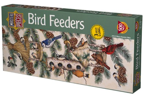 Bird Feeders Panoramic Jigsaw Puzzle 500pc Master Pieces 30001