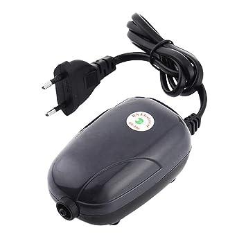 Yakamoz 3 W portátil Acuario Bomba de Aire de oxígeno hidropónico Acuario aireador Oxygen Bomba Tanque de Peces con 1 Salida de Aire para Small Fish Tank ...