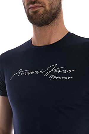 Armani Jeans Men's Navy Blue T-Shirt XXL