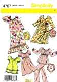 Simplicity 4767 Sewing Pattern Toddlers Girls Robe Nightgown Pajamas Pillow Size 3 - 8