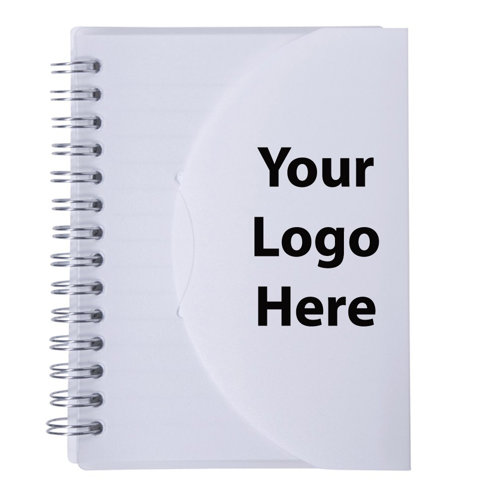 Medium Spiral Curve Notebook - 150 Quantity - $2.20 Each - PROMOTIONAL PRODUCT / BULK / BRANDED with YOUR LOGO / CUSTOMIZED
