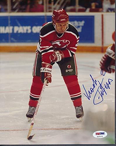 - Slava Fetisov Devils Autographed Signed Memorabilia 8x10 Photo Autograph Auto - PSA/DNA Authentic