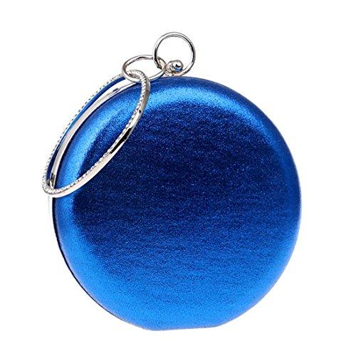 Bag Evening KERVINFENDRIYUN Handbag Women's Blue Candy Clutch Color Ball Shoulder Bag Purse Bag Banquet Round Wild Blue cYYBRFwx
