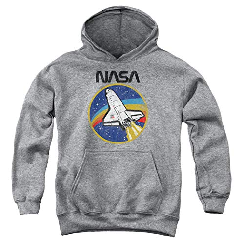 Popfunk NASA Logo Shuttle Space Kids Youth Pullover Hoodie & Stickers (Large)