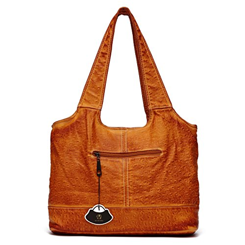 Handbags PU Shoulder Bags Leather Tote Fashion Brown Large Ali Women Hobo Victory nqxwUFYXI8
