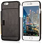 """Lockwood iPhone 6/6s Snap On Wallet Case   Vintage Black   Travel Wallet With Card Holder   Ultra Slim & Lightweight Design   Classic Cases for Modern Devices   (4.7"""" Screen)   PU Leather"""