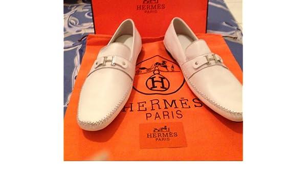 Hermes - Mocasines para hombre blanco 45: Amazon.es: Zapatos y complementos
