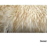 Spectrum Rugs Legacy Faux Sheepskin Double Pelt Shag Runner Rug (2 x 6) Champagne Natural
