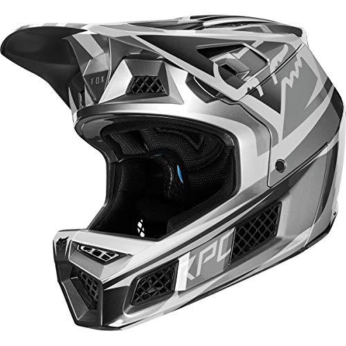 - Fox Racing Rampage Pro Carbon Helmet Metallic Silver, XL