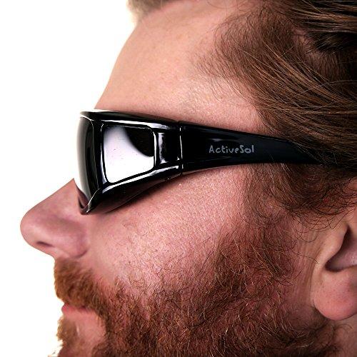 polarizadas gafas polarizadas over UV400 para Gafas SOL superpuestas de ACTIVE sol Gafas hombres de Fit Gafas para llevan personas sol que Negro superpuestas w6q71