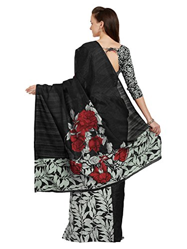 Fashion Women's Blouse Grey Navy Mirchi Indian Saree Printed Blue Fabric Bhagalpuri Black Unstitched 5317 Grey with BwSdx