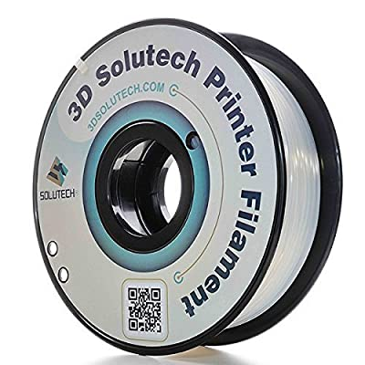 3D Solutech Natural Clear 1.75 mm 3D Printer PLA Filament 2.2 LBS (1.0KG) - 100% USA