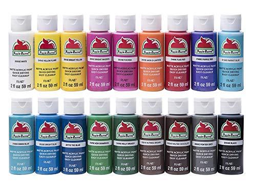 Acrylic Paint Set, 18 Piece (2-Ounce), PROMOABI Assorted Colors I (Premium pack) -  Apple Barrel