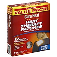 Cura-Heat Heat Therapy Patches, Air Activated, Neck Shoulder & Back, Value Pack 7 heat patches by Cura Heat