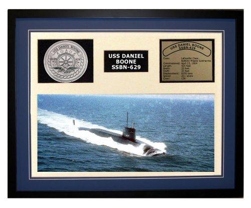 Navy Emporium USS Daniel Boone SSBN 629 Framed Navy Ship Display Blue